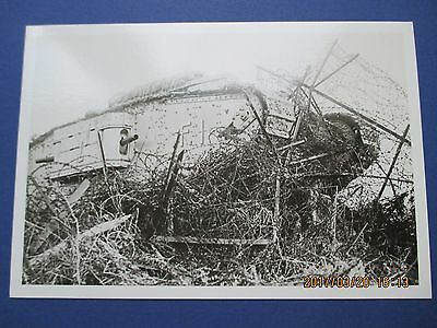 Imperial War Museum Postcard, Wwi, An 'f' Battalion Tank In Barbed Wire See Scan