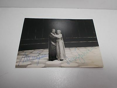 Authentic Signed  Photograph Sena Jurinac And Wolfgang Windgassen Opera Singers