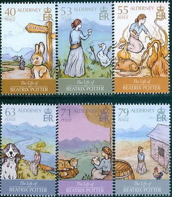 ALDERNEY 2013 The Life of Beatrix Potter/Author SG A494/99 MNH CHILDREN STORIES