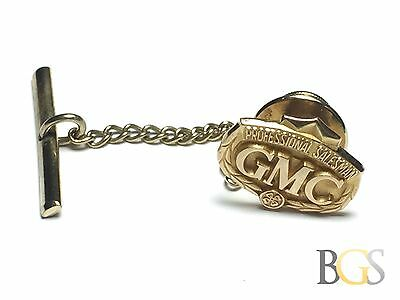 "Antique Solid 10K YELLOW GOLD ""GMC Professional Salesman"" Tie Clasp Pin FREE S&H"