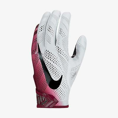 Nike Adult Vapor Knit Receiver Skill Football Gloves  White Deep Maroon Large