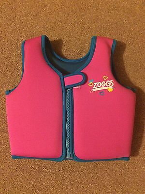 Zoggs Girls Pink Swimming Vest Age 2-3