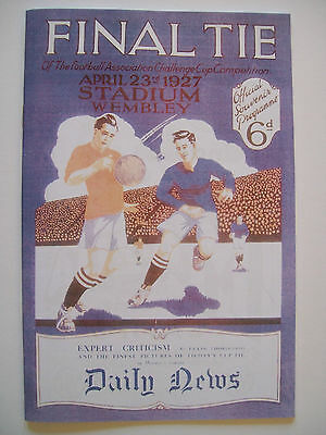 1927 FA Cup final programme & Ticket & free teamsheet Arsenal v Cardiff City