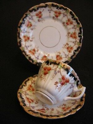 Art Nouveau Shore ,coggins & Holt 'alexandra' China Cup/sauc/plate Trio 1905 Ex