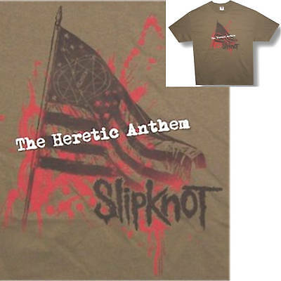 Slipknot! Flag/the Heretic Anthem Green T-Shirt Xl X-Large New!