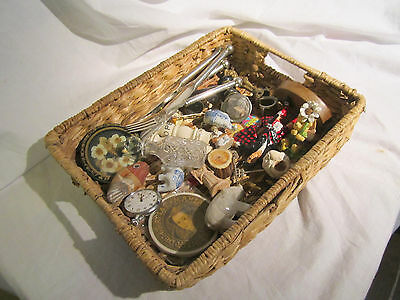 A Basket Of Old Collectables