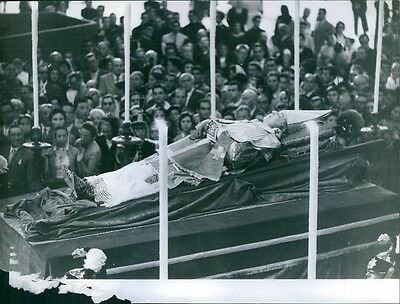Vintage photo of Pope Pius XII 's funeral. - , IMS IMS