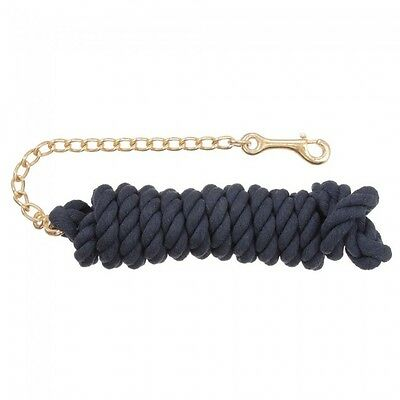 Tough 1 Navy Blue Braided Cotton Lead W/Chain 51-1012