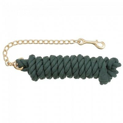 Tough 1 Hunter Green Braided Cotton Lead W/Chain 51-1012