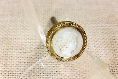 old glass CAMEO figural Picture Nail artwork hangerVictorian vintage #2