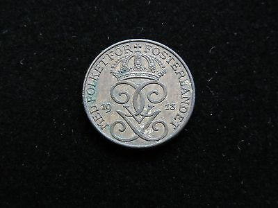 1913 Sweden 1 Ore Coin Lot 1075