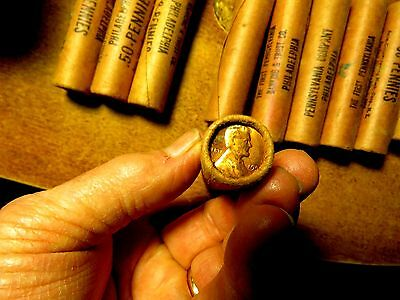 Original Bank Wrapped Rolls Of Fifty 1956 Wheatback Lincoln Cents All Red Gems