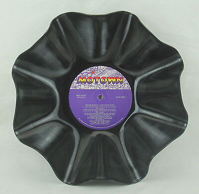 """TEENA MARIE Record Bowl """"Greatest Hits"""" (1985) Recycled Motown Album LP"""