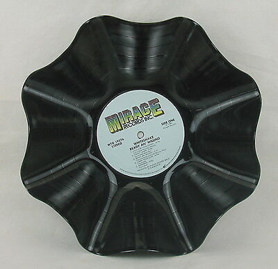 """WHITESNAKE Record Bowl """"Ready An' Willing"""" (1980) Recycled Rock Album LP"""