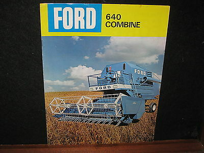 Vintage Old Ford 640 Combine Sales Brochure Farm Advertising