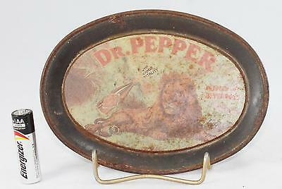 """Small Dr. Pepper Oval Tray-Vintage-6 1/8"""" x 4 1/2""""-Original-Lion"""
