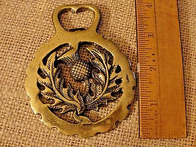 Thistle Flower Harness Brass,Vintage Brass Horse Bridle MEDALLION Ornament