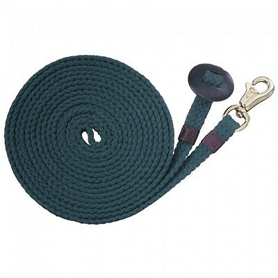 Tough 1 Hunter Green Flat Cotton 24' Lunge Line horse tack equine 52-985