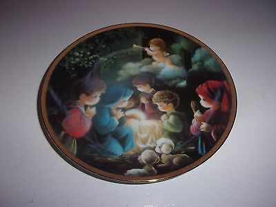 Come Let Us Adore Him Precious Moments Bible Story Plate Hamilton Collection
