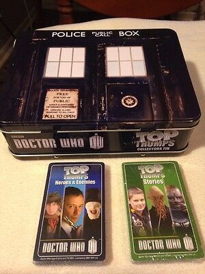 BBC Dr Doctor Who TARDIS Top Trumps Collector's Tin(Lunchbox) w/60 Cards New