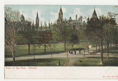 View Of The Park Ottawa Vintage Postcard Canada 424a