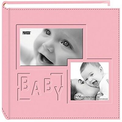 Pioneer Photo Albums 200-Pocket Embossed Baby Leatherette Frame Cover Album For
