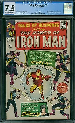 Tales of Suspense 57 CGC 7.5 - OW/W Pages