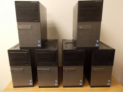 Lot of 6 DELL OPTIPLEX 390 Core I3 Dual Core 3.3 GHz 320 GB HD 4 GB Ram DVDRW