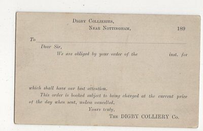 The Digby Colliery Co Nottingham 1890s Postcard 695a