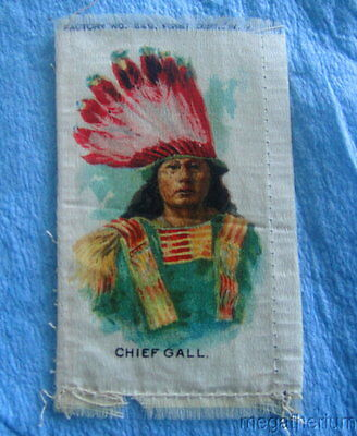 Antique Tobacco Silk: SIOUX INDIAN CHIEF GALL (Great Color Pre-WWII)