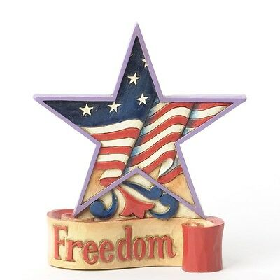 Jim Shore Freedom Mini Patriotic American Flag Star 4th of July Figurine