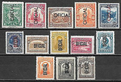 Colombia stamps 1937 MI Service 17-29  MLH/CANC  VF