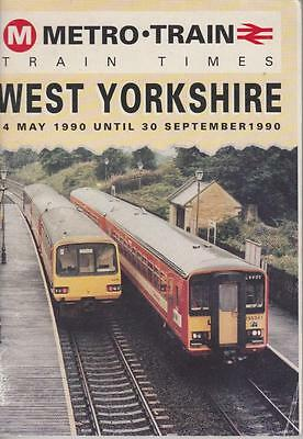 British Rail Timetable Book West Yorkshire May 1990