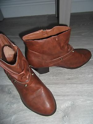 brown ankle boots, new look size 8