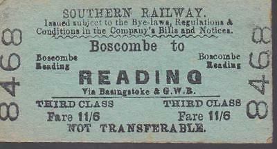 Southern Railway Ticket BOSCOMBE 8468