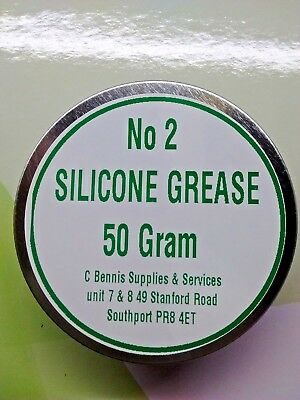 Silicone Grease No2 ** 50g ** Water Proof Multi Purpose Lubricant for rubber Etc
