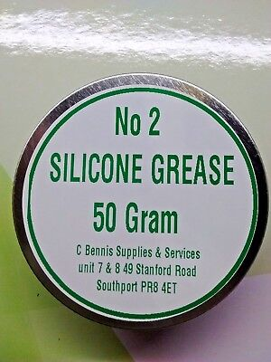 Silicone Grease No2 50g  Water resistant Multi Purpose Lubricant for rubber Etc