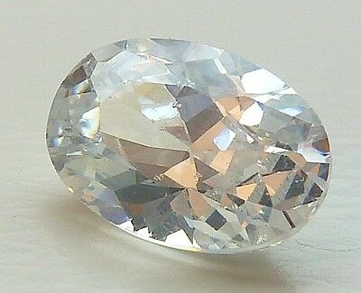 AAA CA 1,19 CT 7,00x5,00 MM OVALE CZ / COLORE WHITE no. 50/ CZ / AAA