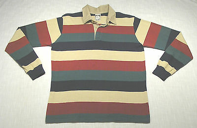 Vintage CAMPUS Striped Rugby Shirt (80s) GREAT COLORS! FREAKS + GEEKS! M