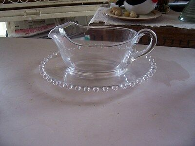 Imperial Candlewick sauce boat and liner