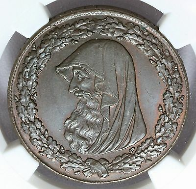 1787 Wales Anglesey Druid One Penny Conder Token D&H-18 - NGC MS 63 BN