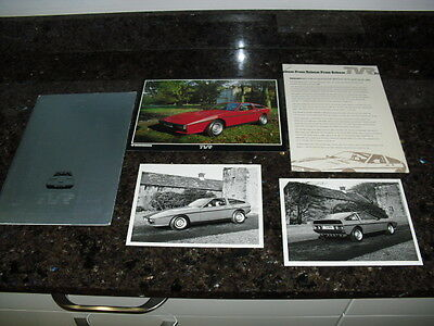 Very Rare 1980 Tvr Tasmin Press Kit With Photos, Brochure And Press Release