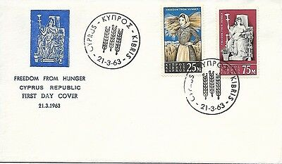 Cyprus 1963 Freedom from Hunger FDC
