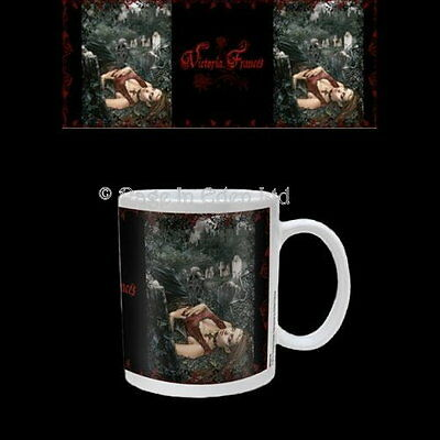 *ECHO OF DEATH* Victoria Frances Goth Fantasy Art White Coffee / Tea Mug