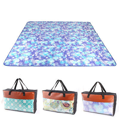 Machine Washable Picnic Blanket Mat Rug for Outdoor Camping Beach Travel