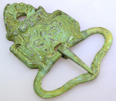 Late Byzantine Middle Ages Belt Buckle Detailed