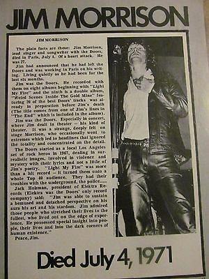 The Doors, Full Page Vintage Clipping