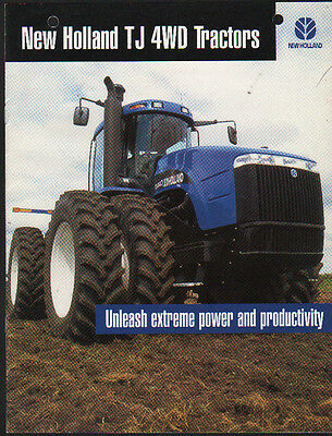 "New Holland ""TJ"" Articulated Tractor Brochure Leaflet"