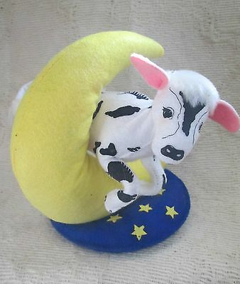 Annalee 7 Inch Cow Jumped Over The Moon Hey Diddle Diddle Nursery Rhyme-NWT+Bag!