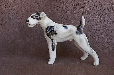 VTG Porcelain FOX TERRIER Dog Repaired